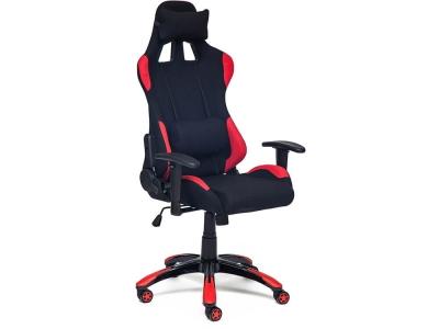 Кресло Igear ткань Чёрный + Красный + Black-red