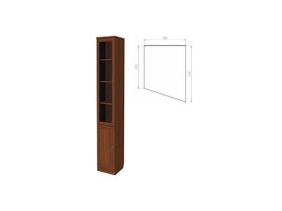 Шкаф для книг консоль правая артикул 202 дуб