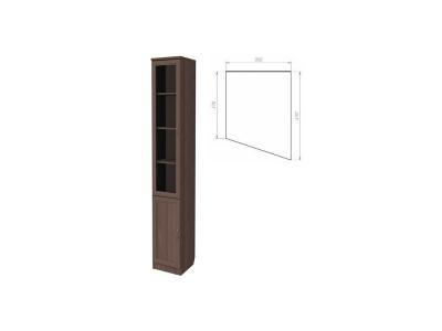 Шкаф для книг консоль правая артикул 202 ясень шимо