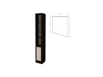 Шкаф для книг консоль правая артикул 202 венге