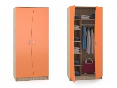Шкаф Ника 401 М 898х604х1973 Оранжевый
