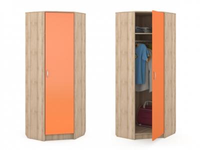 Шкаф угловой Ника 404 702х702-386х1973 Оранжевый