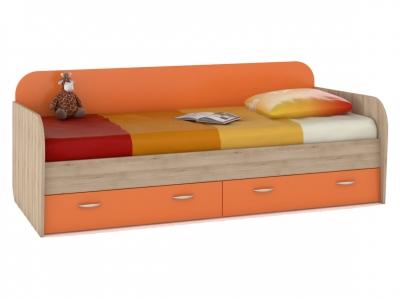 Кровать с ящиками Ника 424 Оранжевый