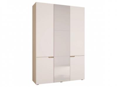 Шкаф трехстворчатый Анталия Сонома -Белый софт