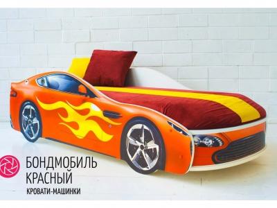 Кровать-машина Бондмобиль красный