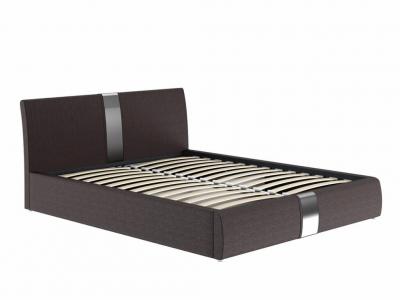 Кровать Челси с подъемным механизмом кожзам темно-коричневый