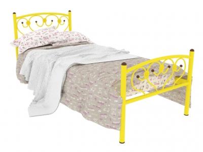 Кровать металлическая Ева Plus желтая