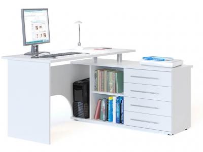 Компьютерный стол Сокол КСТ-109 правый Белый