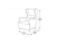 Кресло для отдыха Меланж ТК 03