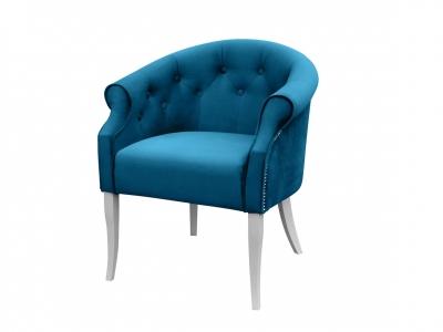 Кресло Милан Энигма темно-бирюзовая белые опоры