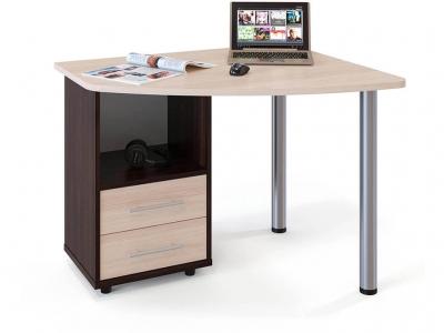 Письменный стол Сокол КСТ-102 левый Венге/Беленый дуб
