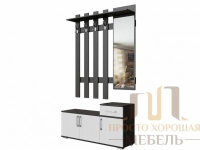 Вешалка с зеркалом СВ No 3 0,8 м Венге/Ясень Анкор светлый