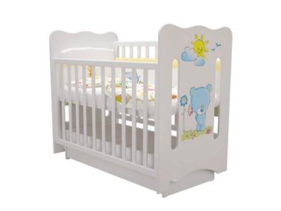 Кроватка детская Руслана 3 Медвежонок с маятником и ящиком