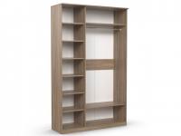 Шкаф 3-х створчатый Дуэт Люкс 1415х450х2300 с зеркалом ясень шимо