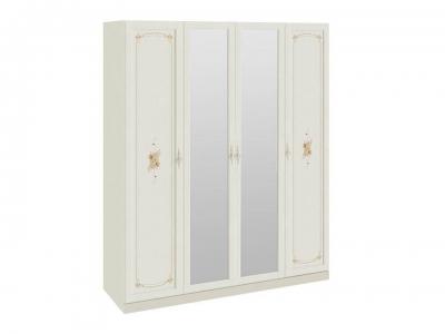 Шкаф для одежды и белья с 2 глух. дверями и 2 зеркальными Лючия СМ-235.07.13 Штрихлак