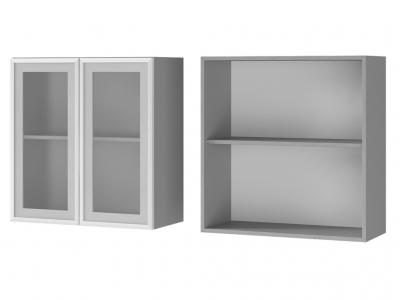 Шкаф настенный 2-дверный со стеклом 700х720х310 7В2 БТС МДФ