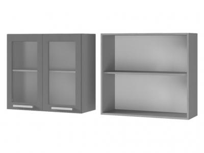 Шкаф настенный 2-дверный со стеклом 800х720х310 8В2 БТС МДФ