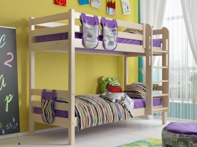 Двухъярусная кровать Соня с прямой лестницей No 9