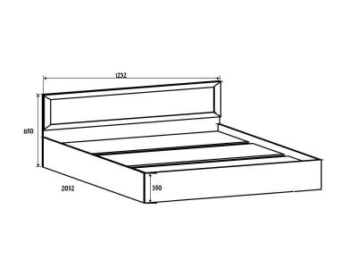 Вега ВМ14 Кровать спальное место 120-200 850х1232х2032 мм