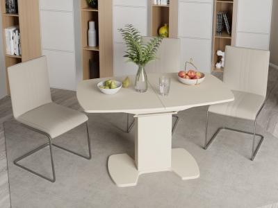 Стол обеденный Портофино СМ(ТД)-105.02.11(1) Бежевое, стекло LUX