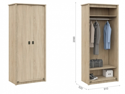 Шкаф для детской Валенсия 2д Дуб сонома