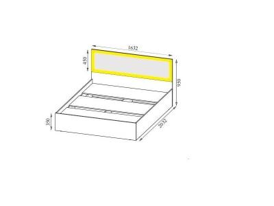 Вега ВМ15 Кровать с основанием ЛДСП спальное место 160-200 950х1632х2032 мм