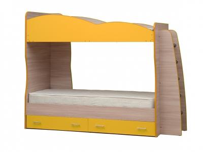 Кровать детская двухъярусная Юниор-1.1 Желтый
